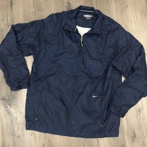 Vintage Nike Lined Windbreaker Track Jacket Mens